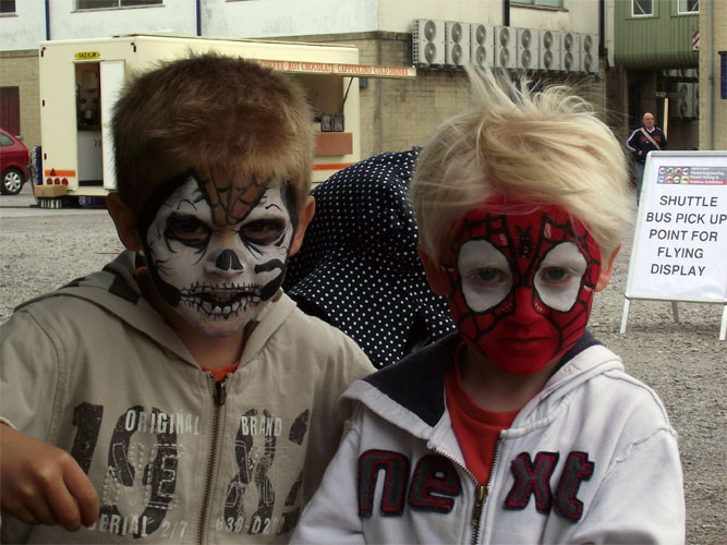 Skullface and Spiderbunny - Face painting by Arty-faces - Bristol