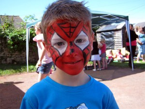 FacePainting of Spiderman by Arty-faces