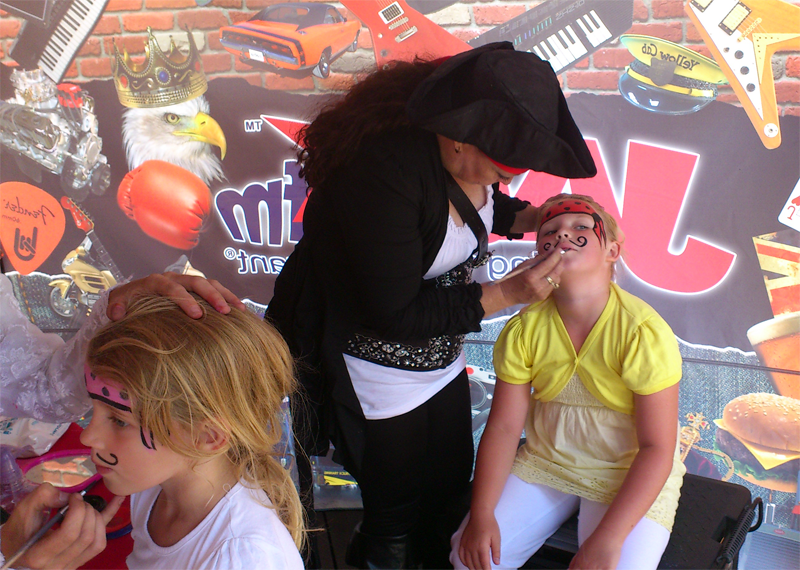 Pirate Face Painting at Bristol Harbor Festival